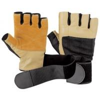 Перчатки коричневые с фиксатором